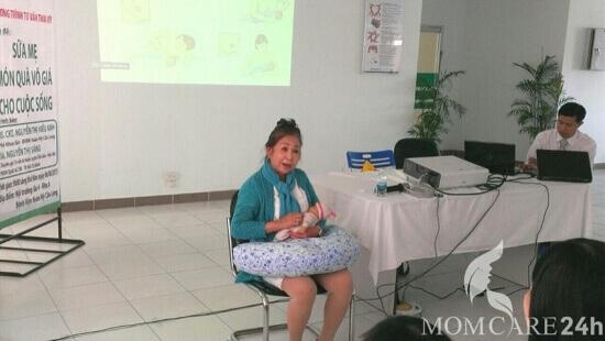 Chuyên gia momcare24h tham dự chương trình tư vấn thai kỳ tại BV Hoàn Mỹ Cửu Long