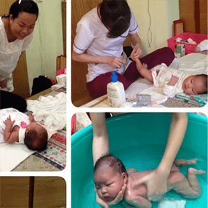 Chị Quỳnh Thảo sử dụng Massage và Tắm Bé sơ sinh
