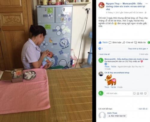 Chị Nguyen Thuy sử dụng dịch vụ Massage & Tắm Bé tại nhà