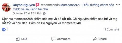 Cảm nhận của Nguyễn Thị Diễm Quỳnh sau khi sử dụng dịch vụ Chăm sóc Bé sau sinh