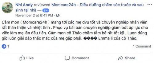 Cảm nhận của Huỳnh Thị Minh Nhi sau khi sử dụng dịch vụ Chăm sóc Bé sau sinh