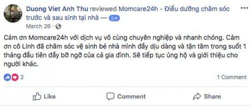 Cảm nhận của Dương Việt Anh Thư sau khi sử dụng dịch vụ Chăm sóc Bé sau sinh