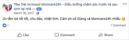Cảm nhận của Chị Thu Trà sau khi sử dụng dịch vụ tại Momcare24h