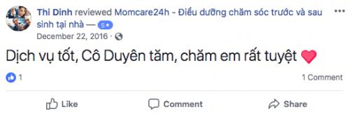 Cảm nhận của Chị Định sau khi sử dụng dịch vụ Chăm sóc Bé sau sinh
