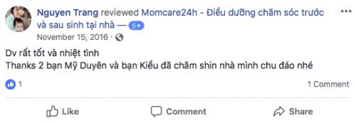 Cảm nhận của Chị Trang sau khi sử dụng dịch vụ Chăm sóc Bé sau sinh