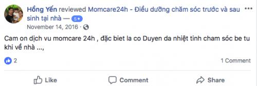Cảm nhận của Hồng Yến sau khi sử dụng dịch vụ Chăm sóc Bé sau sinh