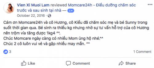Cảm nhận của Chị Dung sau khi sử dụng dịch vụ Chăm sóc Mẹ và Bé