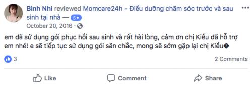 Cảm nhận của Bình Nhi sau khi sử dụng dịch vụ Chăm sóc Bé sau sinh
