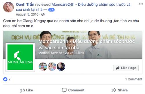 Cảm nhận của Oanh Trần sau khi sử dụng dịch vụ Tắm Bé