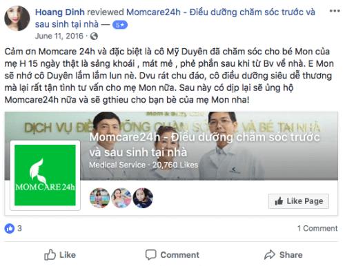 Cảm nhận của Hoang Dinh sau khi sử dụng dịch vụ Tắm Bé và Massage Bé