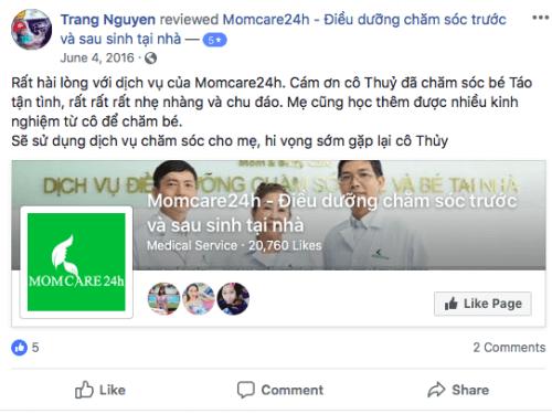 Cảm nhận của Trang Nguyen sau khi sử dụng dịch vụ Tắm Bé