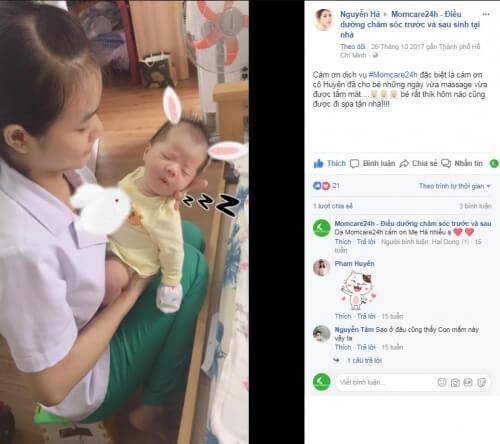 Cảm nhận của Chị Nguyễn Hà sau khi sử dụng dịch vụ Massage & Tắm Bé