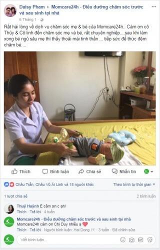 Cảm nhận của Chị Daisy Pham sau khi sử dụng dịch vụ chăm sóc mẹ và bé