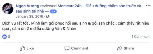 Cảm nhận của Chị Ngọc Vương sau khi sử dụng dịch vụ chăm sóc mẹ sau sinh