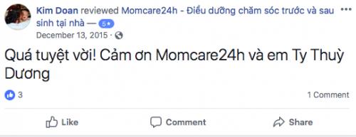 Cảm nhận của Kim Doan sau khi sử dụng dịch vụ Momcare24