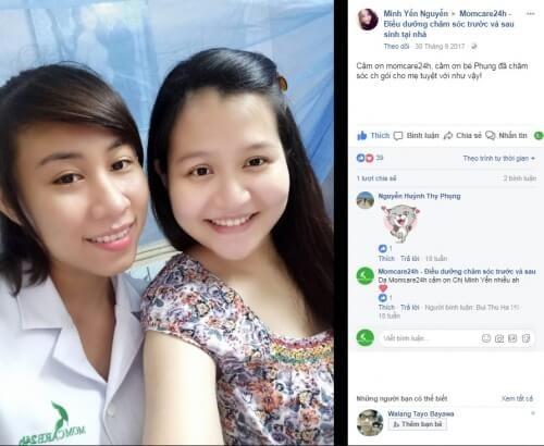 Cảm nhận của Minh Yến Nguyễn sau khi sử dụng dịch vụ Chăm sóc Mẹ sau sinh