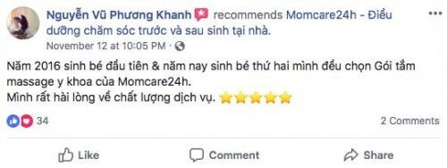 Cảm nhận của Phương Khanh sau khi sử dụng dịch vụ Tắm Bé và Massage Bé