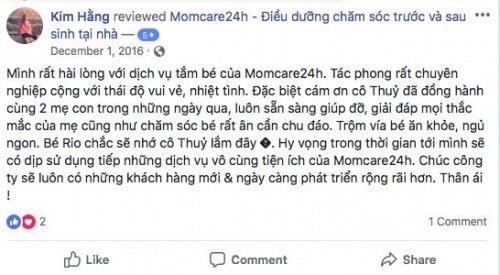 Cảm nhận của Kim Hằng sau khi sử dụng dịch vụ Tắm Bé