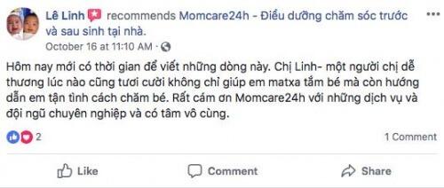 Cảm nhận của Chị Lê Linh sau khi sử dụng dịch vụ Massage và Tắm cho Bé