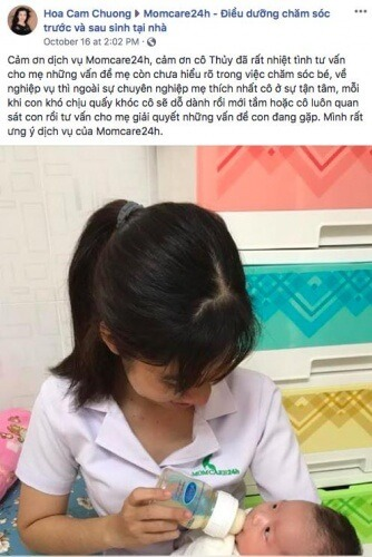 Cảm nhận của chị Nguyễn Thị Thanh Tâm sau khi sử dụng dịch vụ Chăm Sóc Bé