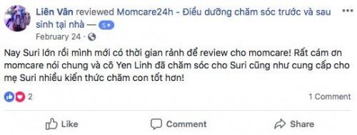 Cảm nhận của Chị Võ Thị Thu Vân sau khi sử dụng dịch vụ tại Momcare24h
