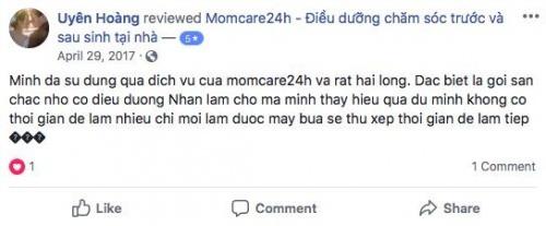 Cảm nhận của Chị Uyên sau khi sử dụng dịch vụ tại Momcare24h