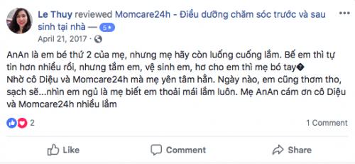 Cảm nhận của Chị Thủy sau khi sử dụng dịch vụ tại Momcare24h