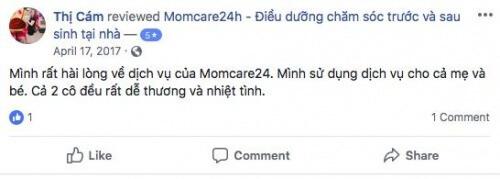 Cảm nhận của Chị Phạm Phương Ngân sau khi sử dụng dịch vụ tại Momcare24h
