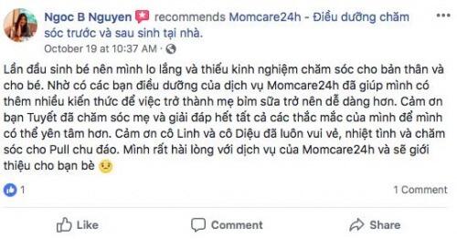 Cảm nhận của Chị Nguyễn Bảo Ngọc - Vinhomes Bình Thạnh sau khi sử dụng dịch vụ chăm sóc cho bé