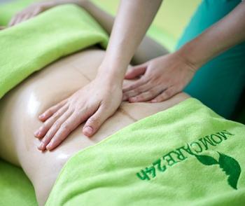 Massage bụng Y khoa đào thải sản dịch, co hồi tử cung