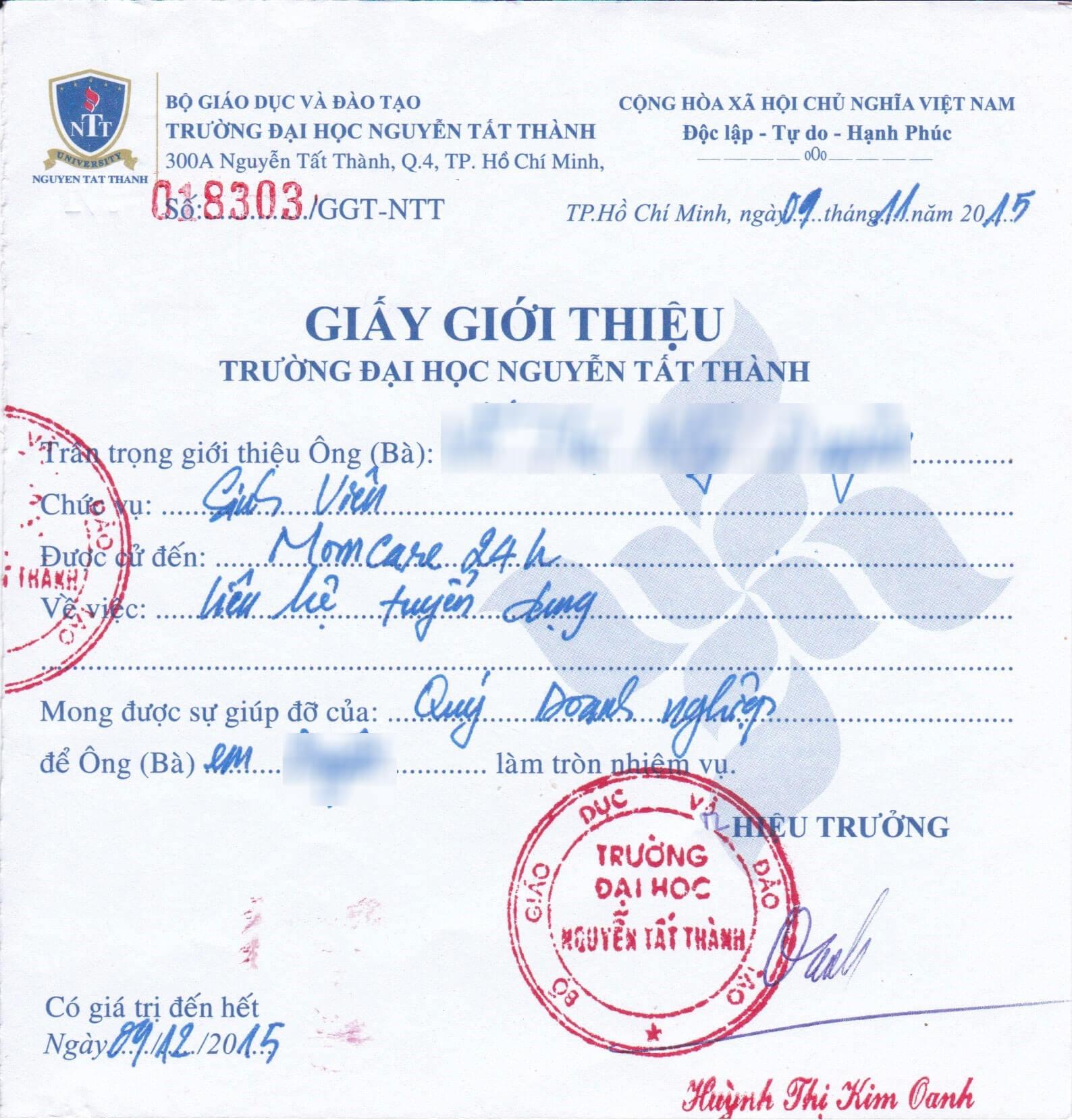 DH-Nguyen-Tat-Thanh-giay-gioi-thieu